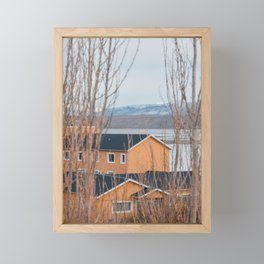 House in the woods in El Calafate Framed Mini Art Print