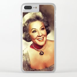 Vivian Vance, Vintage Actress Clear iPhone Case