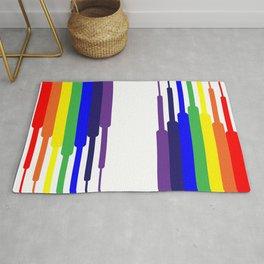 Rainbow descending Rug