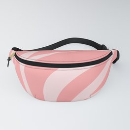 Red Fracture Pattern Fanny Pack
