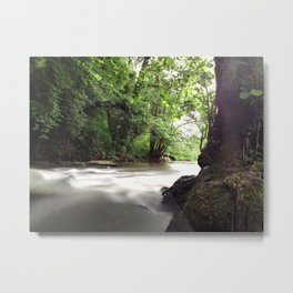 Water on the Weir 2 - iPhoneography Metal Print