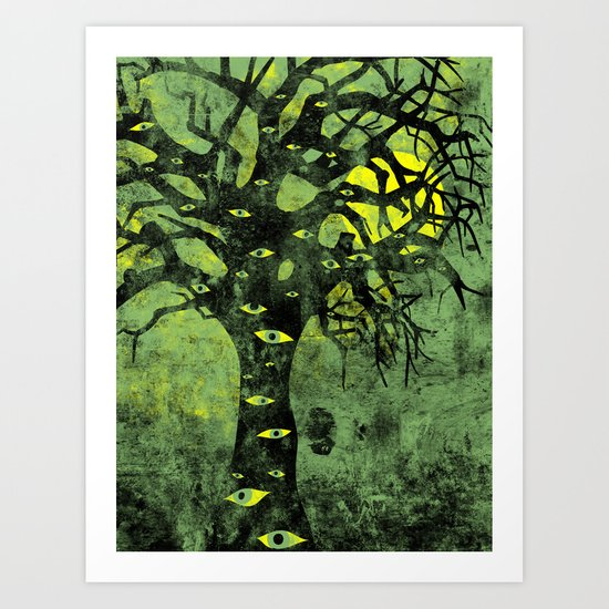 the Vision Tree (green) Art Print