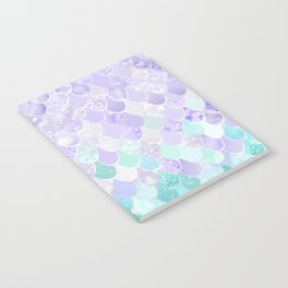 Mermaid Iridescent Purple and Teal Pattern Notebook