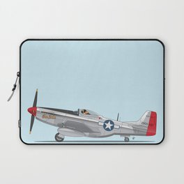 Boxer 'The Duke' flying his P-51 Mustang! -  Dogs driving things Laptop Sleeve