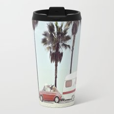 NEVER STOP EXPLORING - CAMPING PALM BEACH Travel Mug