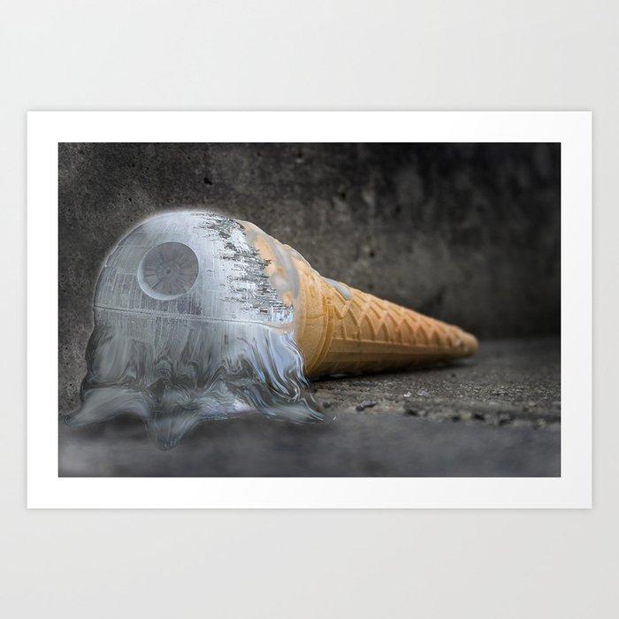 I dropped my death star :/ Art Print