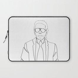 Karl Lagerfeld portrait Laptop Sleeve