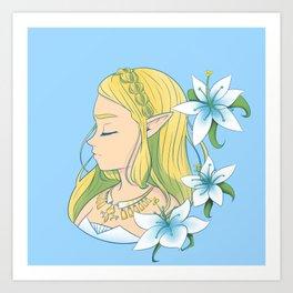 Silent Princess Zelda Full Art Print