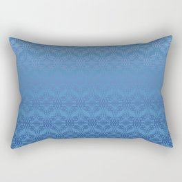 Blue Weaves Pattern Rectangular Pillow