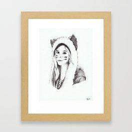 Dotwork Portrait Framed Art Print