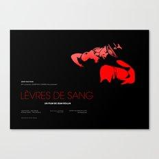 Levres De Sang Canvas Print