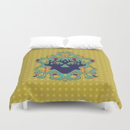 Polka Lotus : Antilope Duvet Cover