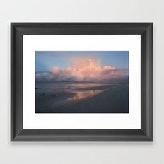Morning Walk on the Beach Framed Art Print