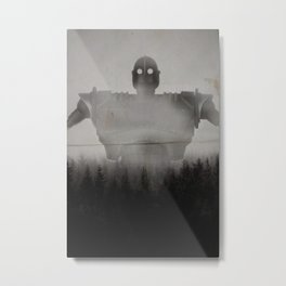 The Iron Giant In The Woods Metal Print