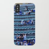 dodgers iPhone & iPod Cases featuring Find Your Seat by Gabe Dahl
