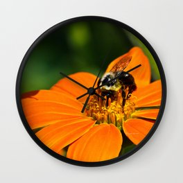 Bumblebee Hard At Work Wall Clock