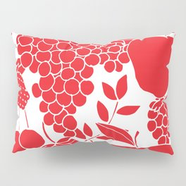 Fruit, Red and White Pillow Sham