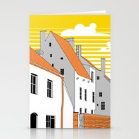 medieval Stationery Cards featuring Medieval houses by LaDa