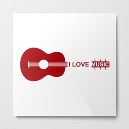 I love music #society6 #decor #buyart #artprint Metal Print