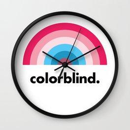 Colorblind Rainbow Wall Clock