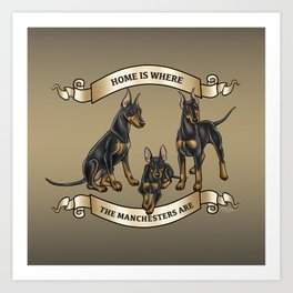 Home is where the Manchesters Are Art Print