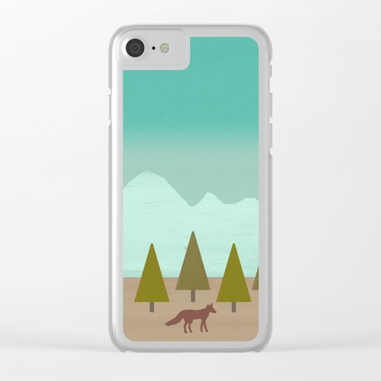 Evening Moon Clear iPhone Case