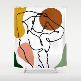 NOODDOOD Lines 4 Shower Curtain