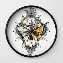 Skull Still Life Wall Clock