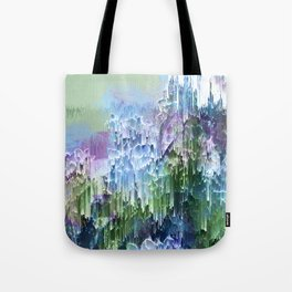 Wild Nature Glitch - Blue, Green, Ultra Violet #nature #homedecor Tote Bag