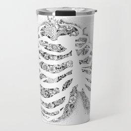Anatomy Series: Rib Cage Flowers Travel Mug