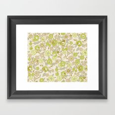 small vintage floral Framed Art Print