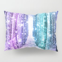 Magical Forest Lavender Aqua Teal Ombre Pillow Sham