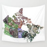 canada Wall Tapestries featuring Canada by minouette