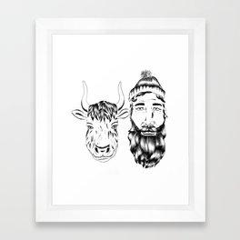 Paul and Babe II Framed Art Print