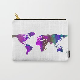 World Map QQ Carry-All Pouch