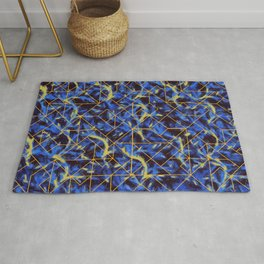 The Blue and Yellow Rug
