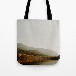 The Faded Forest on a River (Color) Tote Bag