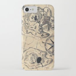 Old Nautical Map iPhone Case