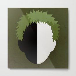 Zetsu Simplistic Face Metal Print