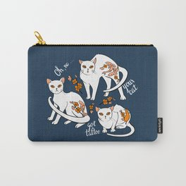 Oh, no! Your cat got a tattoo (blue) Carry-All Pouch