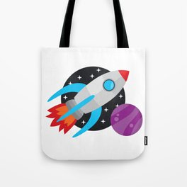 The Last Rocket Launching Tote Bag
