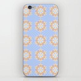 Grandis Snowflakes With Malibu Starburst Backdrop iPhone Skin