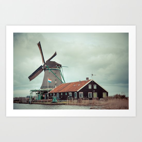 Mill away Art Print