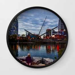 Little one, Big city Wall Clock