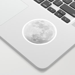 CHALK WHITE MOON Sticker