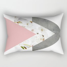Blossoms Arrows Collage Rectangular Pillow