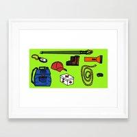 hiking Framed Art Prints featuring Hiking by Jonny Penn