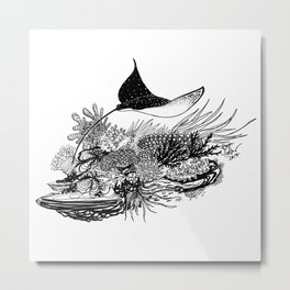 Eagle Ray Metal Print