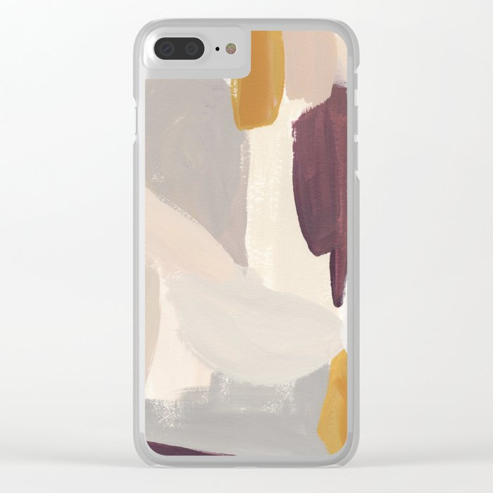 Plumb Crazy Clear iPhone Case