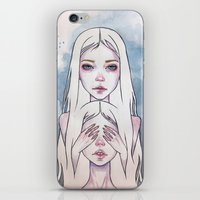 twins iPhone & iPod Skins featuring Twins by Black Fury